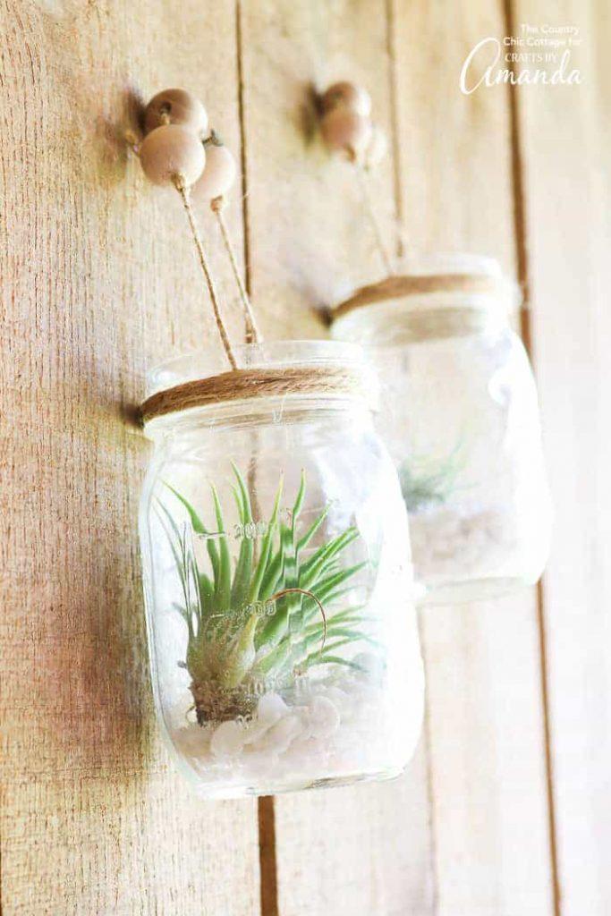 mason jar hanging planters