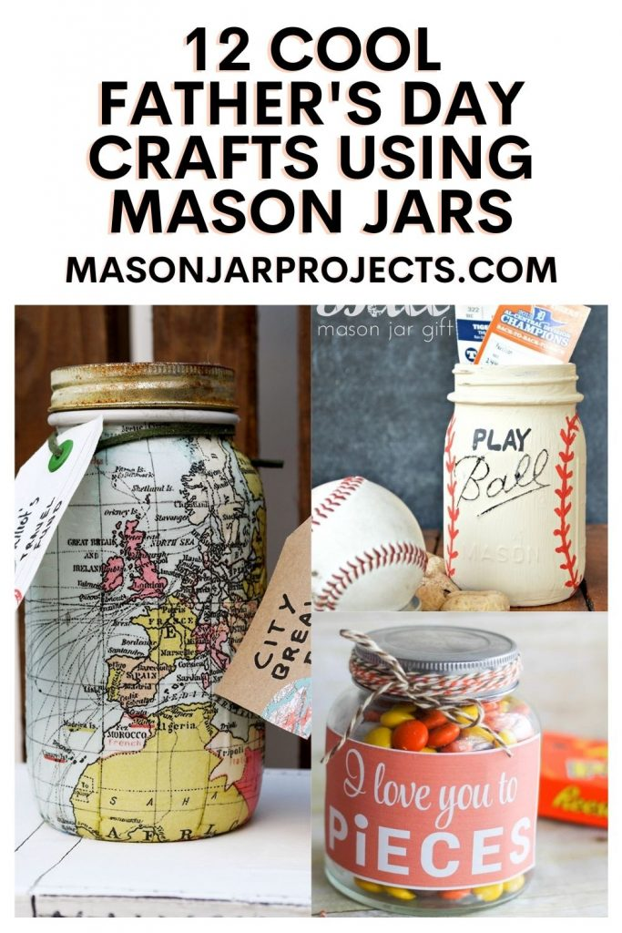 cool Father's Day Crafts with mason jars