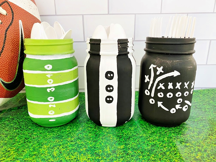 DIY mason jar crafts football