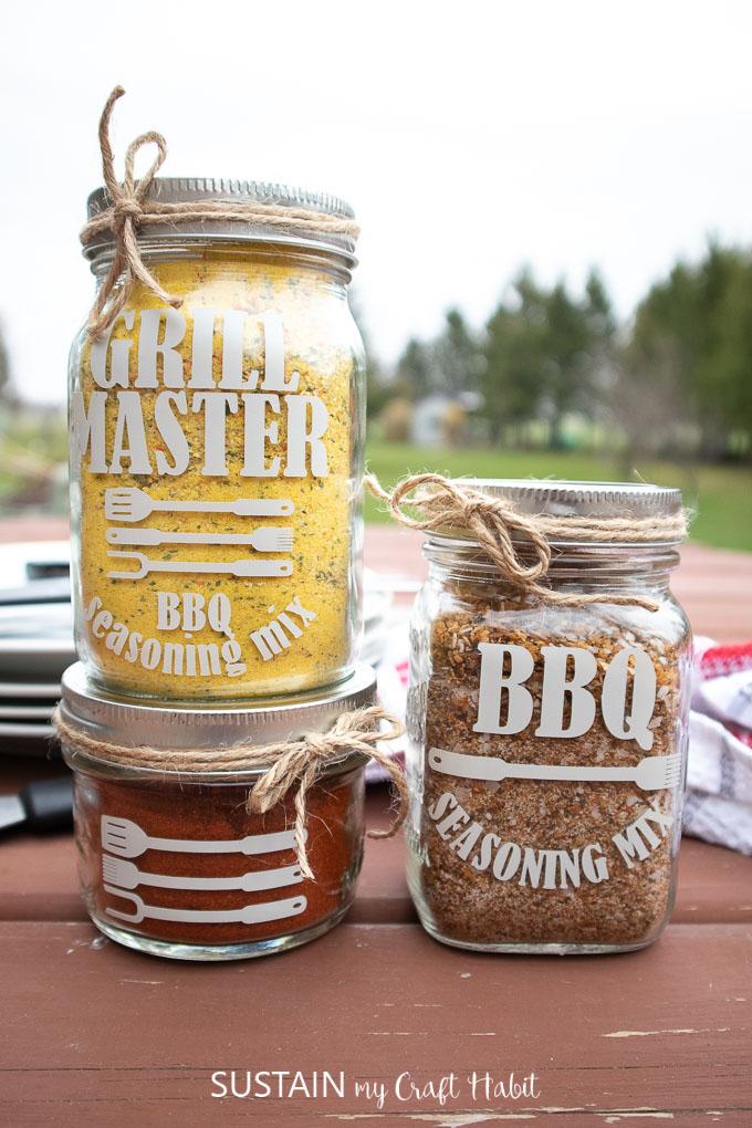 DIY seasoning mix jars