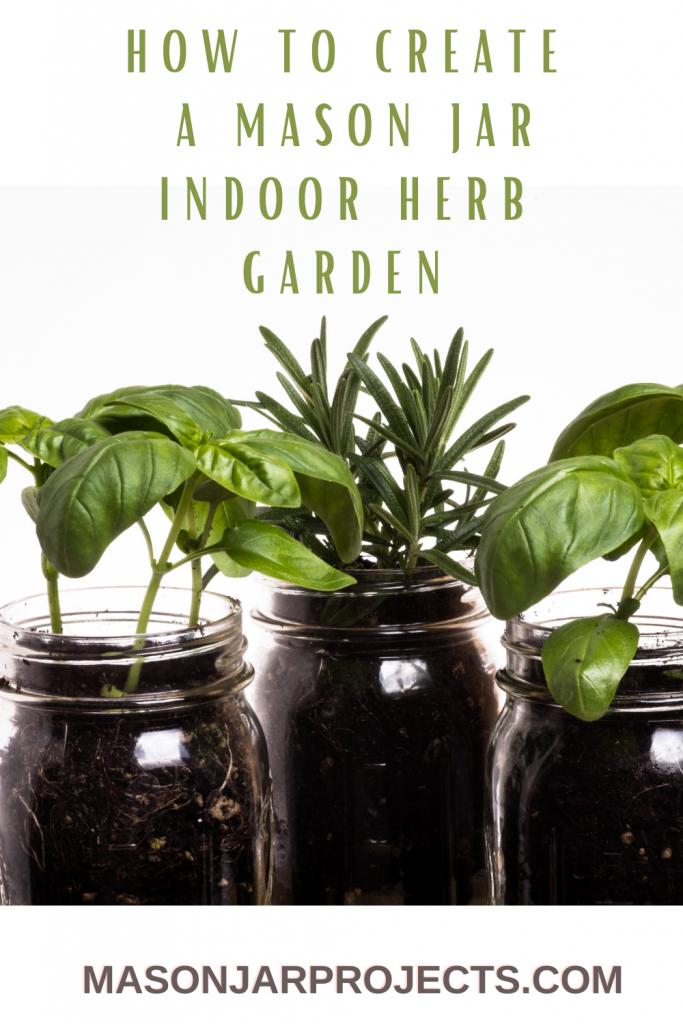 glass jar herb garden