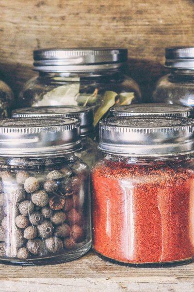 mason jar spics storage