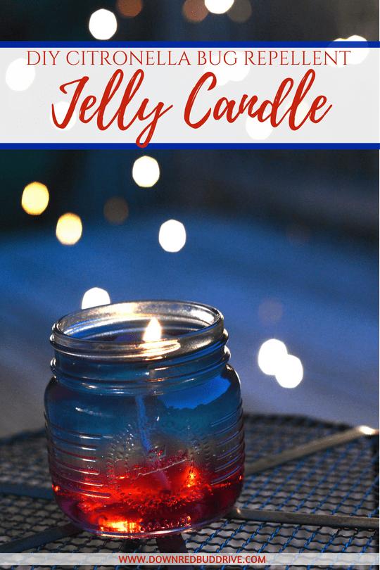 DIY mason jar citronella candle
