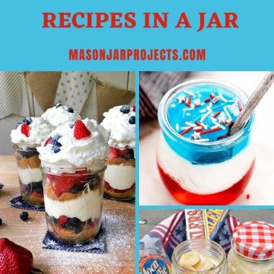 10 Easy July 4th Dessert Recipes in a Jar