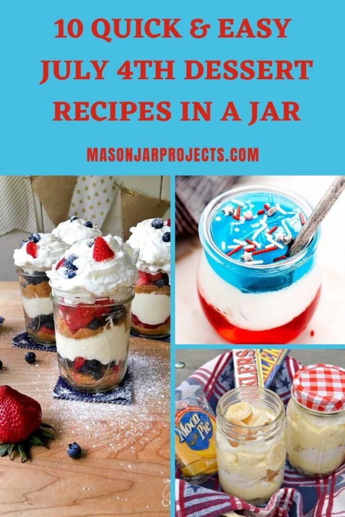 easy July 4th dessert recipes in a jar