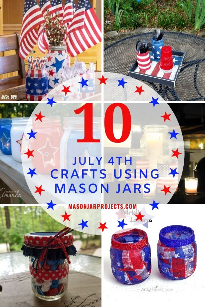 mason jar 4th July crafts