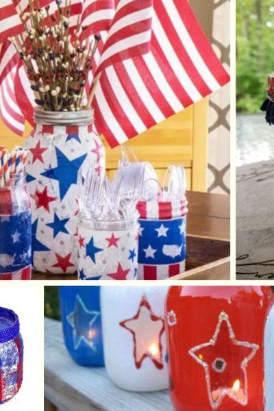 mason jar July 4th crafts